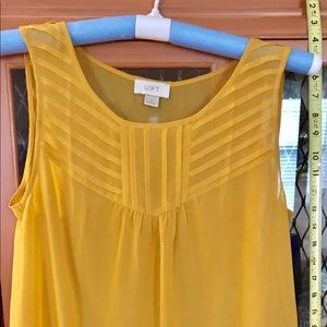 Yellow chiffon sleeveless top